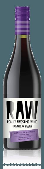RAW Bio & Vegan Tinto 2018 Cabernet Sauvignon 60% Cabernet Sauvignon, 35% Tempranillo, 5% Merlot Vino de Espana