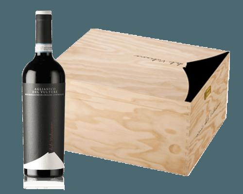 Terre del Vulcano Aglianico del Vulture 2015 (6 flaskor i trälåda)