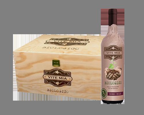 Vite Mia Rosso Puglia Biologico 2015 (6 flaskor i trälåda)