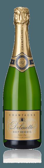 Champagne Delmotte Reserve Brut NV Pinot Noir 60% Pinot Noir, 40% Chardonnay Champagne