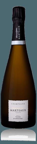 Champagne Marteaux Terre d'Origine NV Pinot Noir 34% Pinot Noir, 33% Pinot Meunier, 33% Chardonnay Champagne
