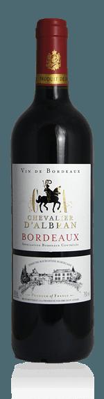 Chevalier d'Albran Bordeaux 2016 (i originalkartong) Merlot 50% Merlot, 40% Cabernet Sauvignon, 10% Cabernet Franc Bordeaux