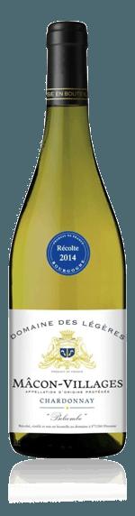Domaine des Légères Mâcon-Villages Belcombe 2015 Chardonnay 100% Chardonnay Bourgogne
