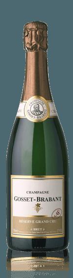Gosset-Brabant Reserve Grand Cru Brut NV Pinot Noir 80% Pinot Noir, 20% Chardonnay Champagne