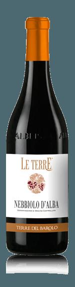 Le Terre Nebbiolo d'Alba 2016 (i trälåda) Nebbiolo 100% Nebbiolo Piemonte