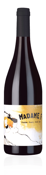 Madame F Rouge 2018 Grenache 70% Grenache, 20% Syrah, 10% Carignan Languedoc-Roussillon