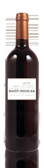 Château Saint Nicolas Cotes de Bordeaux Rouge 2010 Blend