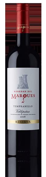 Heredad Del Marques Tempranillo Res 2008 Tempranillo