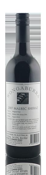 Wongaburra Malbec Shiraz 2007 Blend