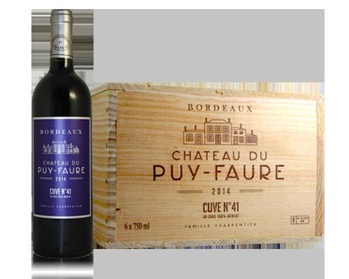 Château Du Puy-Fauvre Cuve 41 2014 (6 Flaskor I Trälåda)