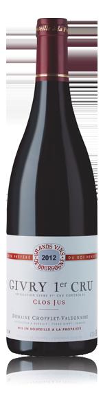 Chofflet-Valdenaire Givry Pc Clos Jus 2012 Pinot Noir