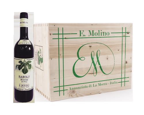 E.Molino Barolo Riserva Del Fico 2008 (sex flaskor i trälåda)