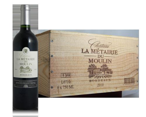 La Métairie Du Moulin Bordeaux 2010 (6 Flaskor I Trälåda)