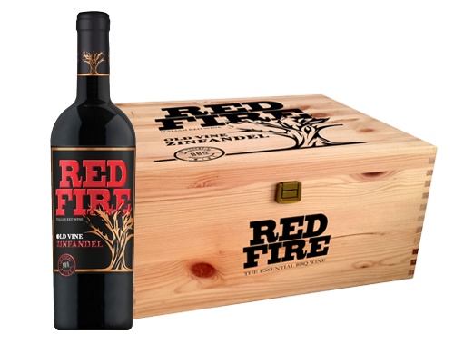 Red Fire Old Vine Zinfandel 2015 (6 flaskor i trälåda)