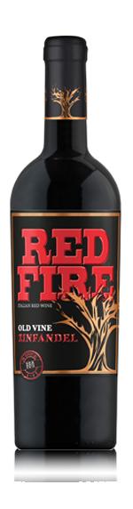 Red Fire Old Vine Zinfandel 2015 (6 flaskor i trälåda) Zinfandel 100% Zinfandel Puglia