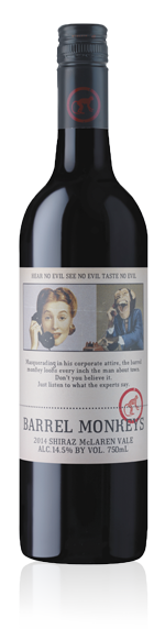 vin Redheads Barrel Monkeys Shiraz 2015 Shiraz