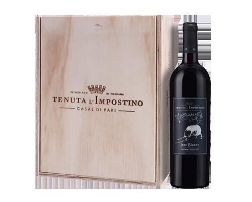 Tenuta L'impostino Lupo Bianco 2010 (6 Flaskor i Trälåda)